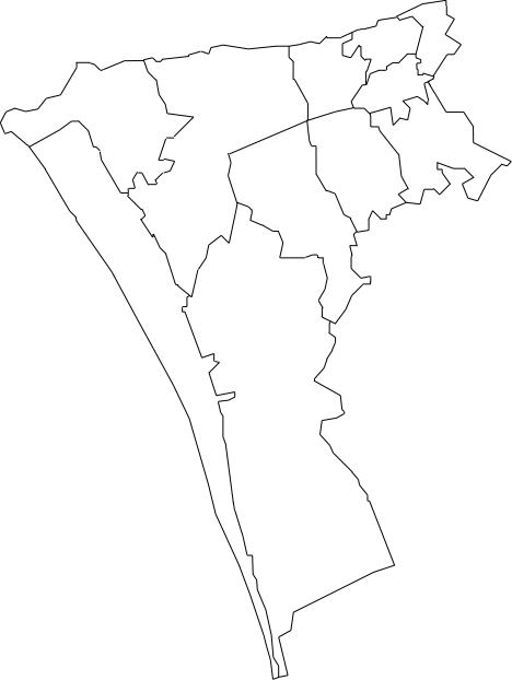mapa do concelho de almada Mapa de Freguesias do Concelho de Almada mapa do concelho de almada
