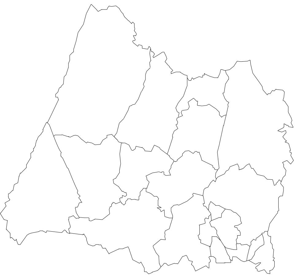 mapa do concelho de sintra Mapa de Freguesias do Concelho de Sintra mapa do concelho de sintra